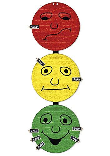 TimeTEX Verhaltens-Ampel - 3 x 30 cm ø - mit 24 Namensschildern - 6 Magnet oder Kordel zum...