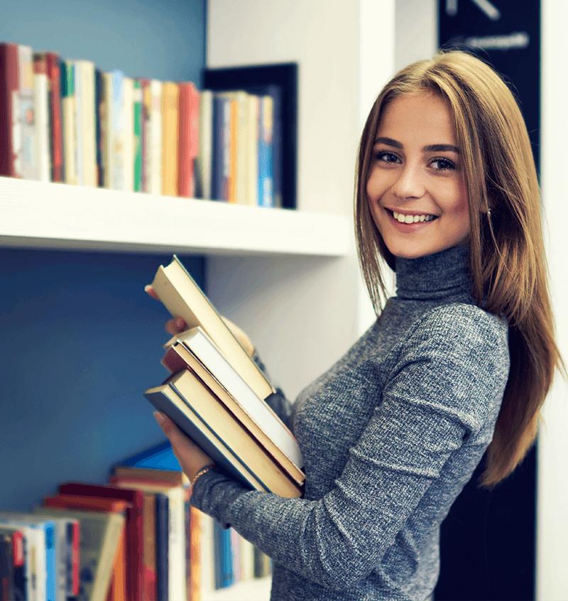 Lehrerladen Frau mit Büchern Unterrichtstörungen