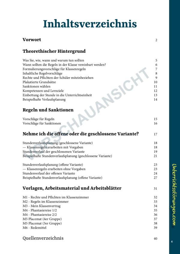 Inhaltsverzeichnis Vorschau